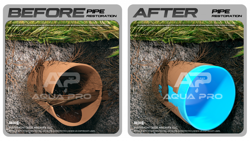 before-after-cipp-trenchless-sewer-miami
